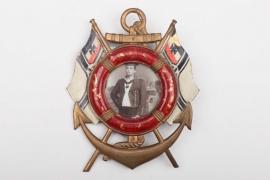 """Kaiserliche Marine """"SMS Braunschweig"""" framed portrait photo"""