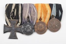 WWI 4-place medal bar - Finnish Civil War