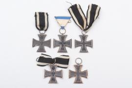 5 x 1914 Iron Cross 2nd Class