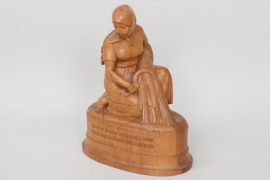 Third Reich impression wooden table decoration of a farmer's wife
