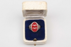 Luftwaffe Flak enamel rank ring in case - 835