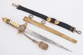 Fischer, Waldemar v. - Kriegsmarine officer's dagger - Eickhorn