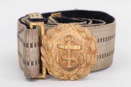 Fischer, Waldemar v. - Kriegsmarine officer's belt & buckle