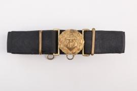 Fischer, Waldemar v. - Kriegsmarine officer's buckle & belt