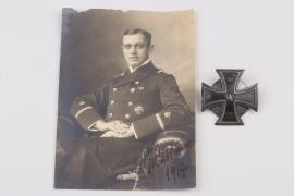 Fischer, Waldemar v. - 1914 Iron Cross 1st Class with photo proof