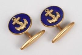 Fischer, Waldemar v. - personal naval cufflinks