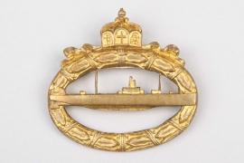 Fischer, Waldemar v. - WW1 U-Boot War Badge (Meybauer)