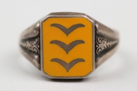 Luftwaffe flying troops enamel rank ring - 835