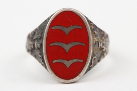 Luftwaffe Flak enamel rank ring - 835