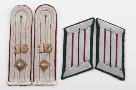 Heer Nebeltruppe insignia set - Oberleutnant
