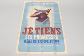 "France - ""je tiens les promesses ...."" poster 1940"
