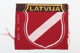 Waffen-SS Latvian volunteer's sleeve badge - Lenta Riga