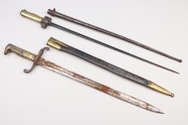 "France - ""Lebel"" bayonet M 1886/93 & Imperial infanry bayonet SG 1871"