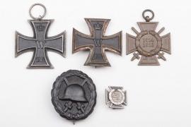1914 Iron Cross 1st Class winner medal grouping