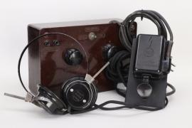 """Luftwaffe """"Glimmröhrensummer"""" with Kriegsmarine headphones"""