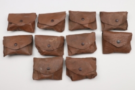 Wehrmacht lot of 10 goggles with bags - unissued