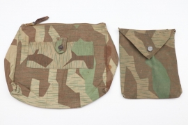 Toilet & document bag from splinter camo material