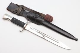 Third Reich fire brigade bayonet with sawback blade - Tiger