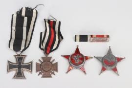 WW1 Turkish Gallipoli Star recipient medal grouping