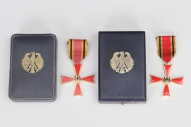 2 x Order of Merit of the Federal Republic of Germany, Cross of Merit in case