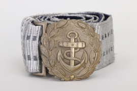 Kriegsmarine officer's brocade belt and buckle - FLL