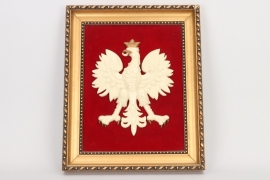 1939 framed Polish wall eagle