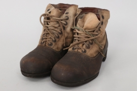 Wehrmacht tropical low ankle boots