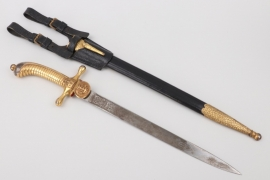 Kaiserliche Marine applicants bayonet with leather frog
