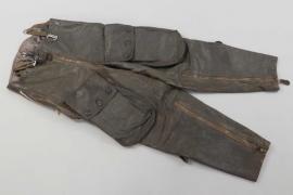 "Luftwaffe ""Reichsverteidigung"" leather flight trousers - electrically heated"