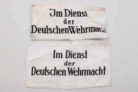 """Wehrmacht two armbands """"Im Dienst der Deutschen Wehrmacht"""""""