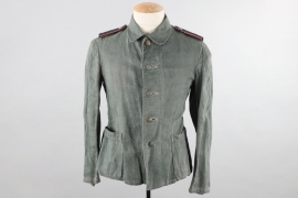 Heer Panzer work drill tunic with shoulder boards