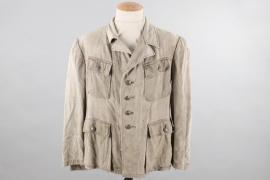 Heer M43 tropical field tunic - POW worn