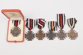 6 x Honor Cross of WWI + case