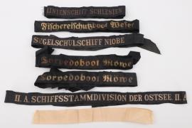 Kriegsmarine/Kaiserliche Marine cap tallies