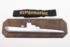 Kriegsmarine cap tally & U-Boot wall decoration