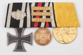 1870 Iron Cross 2nd Class 3-place medal bar