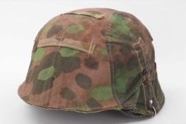 "Waffen-SS reversible ""plane tree"" camo helmet cover"