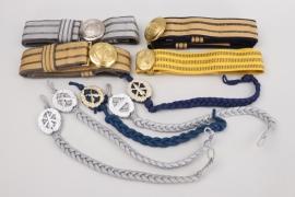 East Germany & Soviet Union - brocade belts & buckles & shooting laynards