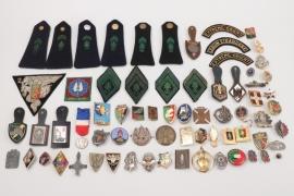 "France - ""Légion Étrangère"" French Foreign Legion lot of badges & insignia"