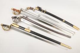4 x sabres/swords