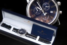 Maurice Lacroix -  Quartz chronograph with moon phase & box