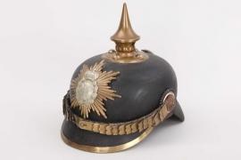 Saxony - M1871 infantry spike helmet - NCO