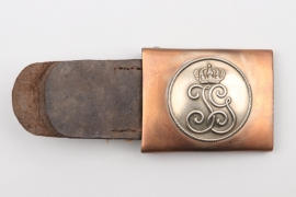 Saxony - Inf.Rgt. 107 EM/NCO belt buckle with leather tab
