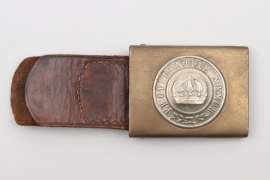 Saxony - EM/NCO belt buckle with leather tab - Osang