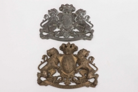 Two Saxon coats of arms - bronze