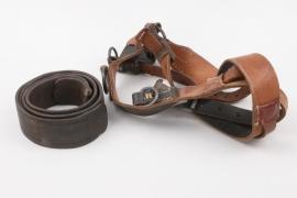 Wehrmacht Y-straps & WWI leather belt