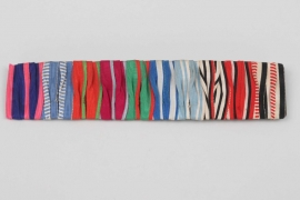 10-place ribbon bar (Geb. Hemmerle) - South West Africa