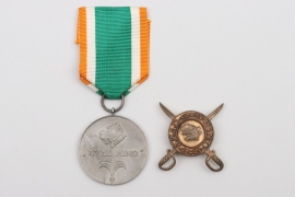 Azad Hind Medal in silver without swords + medallion