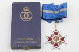 Order of the Crown of Romania, Commander's Cross in case