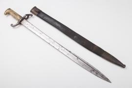 "Saxony - artillery - fascine knife 1871 - ""number matching"""